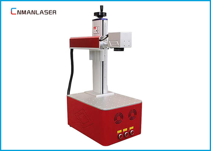 Mini Desktop Fiber Metal Laser Marking Machine 110*110mm Size Worktable