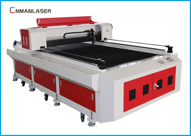 Cina Single Head Air Pendingin Logam Kayu Acrylic Co2 Laser Cutter Machine 1300 * 2500m 150w pabrik